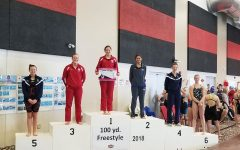 Girls Swimming and Diving places 4th at Districts; several on to State