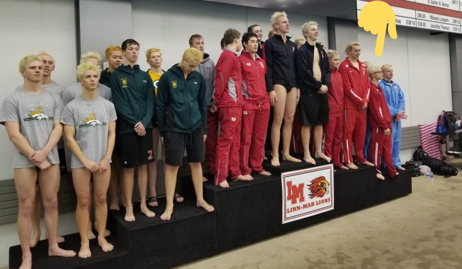 Boys' Swimming places 6th at MVC meet