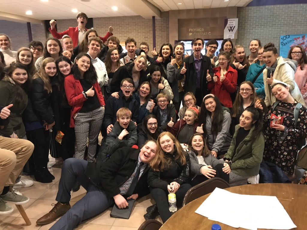 Members of the DSHS Speech team celebrate receiving 47 Division I and 8 Division II ratings