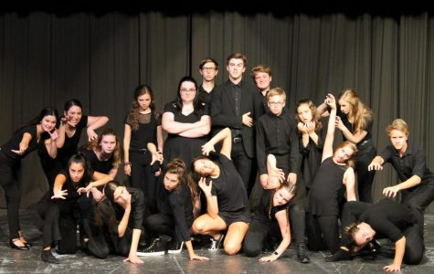 The cast of The Addams Family in the Dubuque Senior Theatre Cabaret