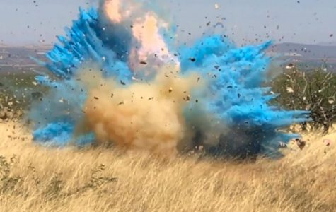 A wildfire started due to this explosion from a pyrotechnic device