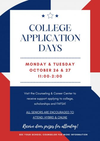 College Application Days – October 26-27